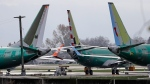 Boeing 737 MAX 8 planes are parked near Boeing Co.'s 737 assembly facility in Renton, Wash. on Nov. 14, 2018. (THE CANADIAN PRESS/AP, Ted S. Warren)