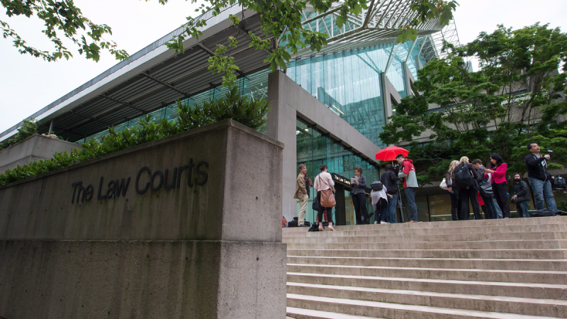 The B.C. Law Courts seen in Vancouver, B.C., in this June 2, 2015 file image. (THE CANADIAN PRESS/Darryl Dyck)