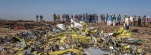 Ethiopian Airlines plane wreckage