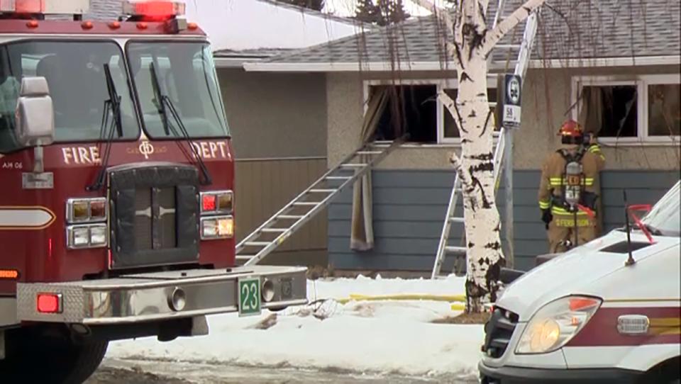 Fire, Forest Lawn, house fire, Calgary Fire Depart