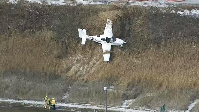 A small aircraft crashed just north of Buttonville Airport on March 12, 2019.