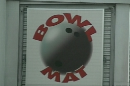"This sign will soon read ""Amusements Bowl-Mat"" to comply with the province's language laws. (July 30,2009)"