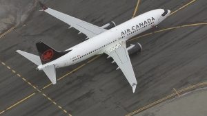 A Boeing 737 Max 8 operated by Air Canada is seen in this undated image.