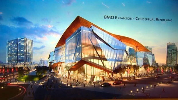 Artist rendering of BMO Centre expansion