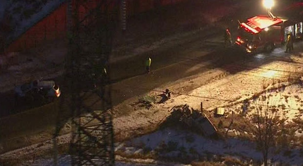 Police are at the scene of a multi-vehicle crash near Steeles Avenue and Sewells Road.