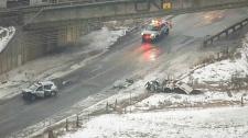 Sewells Road and Steeles Avenue crash