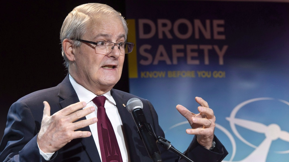 Transport Minister Marc Garneau is warning U.S. lawmakers that Canada will struggle to ratify the new North American trade deal if U.S. tariffs on steel and aluminum exports remain in place much longer. Minister Garneau speaks during a news conference in Montreal on Wednesday, Jan. 9, 2019. THE CANADIAN PRESS/Paul Chiasson