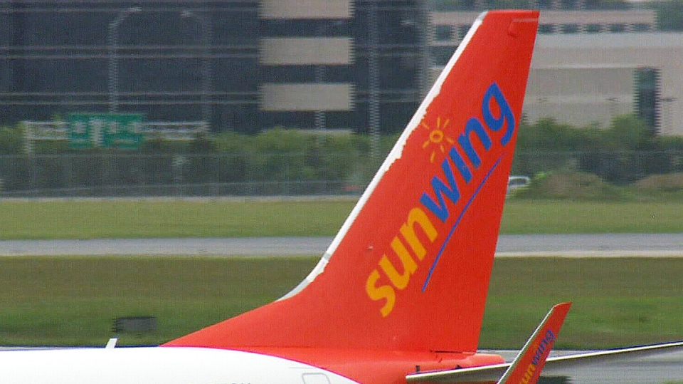 A Sunwing plane is seen here in this file photo.