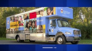 An example of a mobile clinic provided by Ronald McMonald House Charities