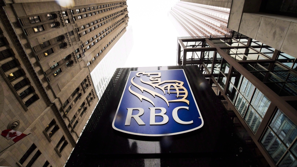 A Royal Bank of Canada sign is shown in the financial district in Toronto on Tuesday, August 22, 2017. THE CANADIAN PRESS/Nathan Denette