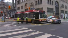 TTC bus collision, Financial District