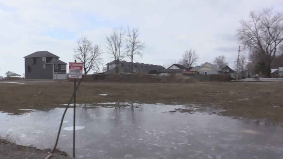 Prespa Group is planning condos at 146-156 William Street in Port Stanley, Ont., as seen on Wednesday, March 13, 2019. (Brent Lale / CTV London)