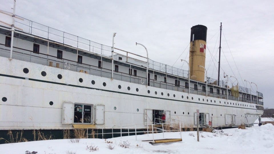 The historic 111-year-old SS Keewatin on Wed., March 13, 2019 (CTV News/Rob Cooper)