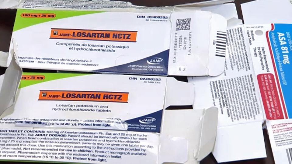 Losartan blood pressure medication