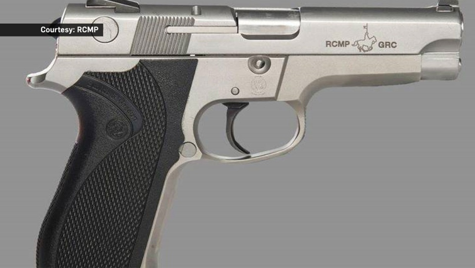 RCMP Smith & Wesson service sidearm (Supplied)