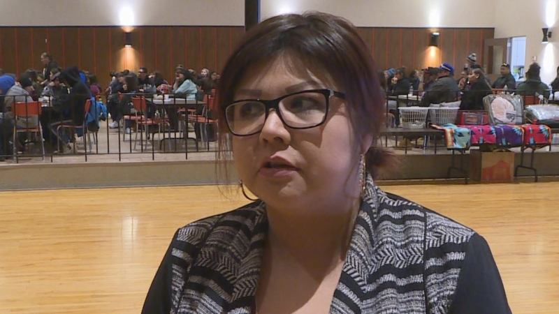 Clarisse Straightnose, a former crystal meth user, spoke about her struggle in Kamsack on Wednesday. (Nathaniel Dove/CTV Yorkton)