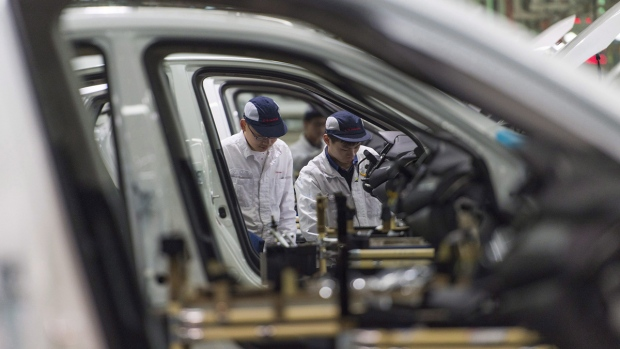 Dongfeng Honda automotive plant in Wuhan, China