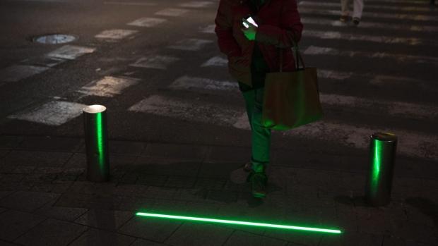 'Zombie lights' in Tel Aviv, Israel