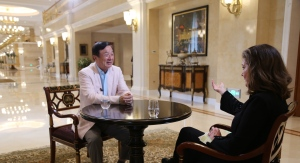 CTV News Chief Anchor Lisa LaFlamme interviews Huawei CEO Ren Zhengfei in Shenzhen, China. (Rosa Hwang/CTV News)