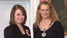 Mutsumi Takahashi is invested into the Order of Canada by Governor General Julie Payette on Thursday March 14, 2019 at Rideau Hall in Ottawa