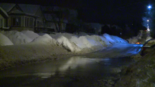 sudbury flooding streets night