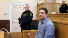 Trent Spencer Butt is seen in the defendant's box, at St. John's Supreme Court, in St. John's on Thursday, March 14, 2019. Butt faces charges of first degree murder and arson in the death of his five-year-old daughter, Quinn. THE CANADIAN PRESS/Holly McKenzie-Sutter