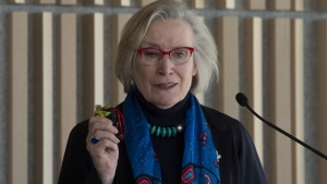 Crown-Indigenous relations Minister Carolyn Bennett speaks during an Indian Day school litigation announcement in Ottawa, Tuesday, March 12, 2019. THE CANADIAN PRESS/Adrian Wyld