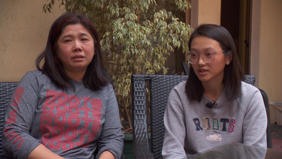 Allison Wang (right) speaks to CTV News about her 47-year-old father Chumming Wang, who was killed in last weekend's Ethiopian Airlines crash.