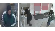 Photos of two suspected bank robbers