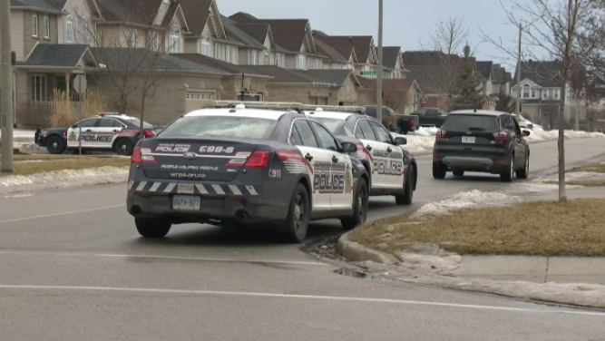 Several police cruisers responded to the incident on Thursday afternoon.