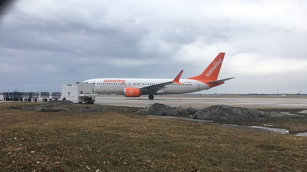 Sunwing Boeing 737 MAX Plane