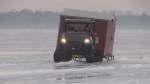 Ice hut removal