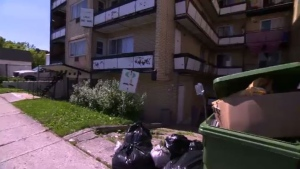 Montreal apartment in need of repairs