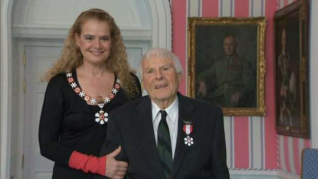 Austin Hunt receives Order of Canada