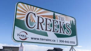 The Creeks, a new neighbourhood in Weyburn, Sask., on Thursday, March 14, 2019. The Creeks was to include a home for people with mental and physical disabilities, which was rejected by city council. Letters sent to the Weyburn city council outlined on behalf of The Creeks residents' voiced concerns about parking, safety and the potential impact to property values. THE CANADIAN PRESS/Michael Bell