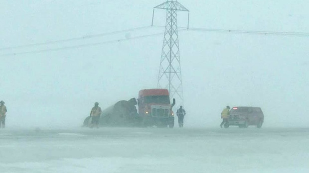 Storm shuts down Manitoba highways