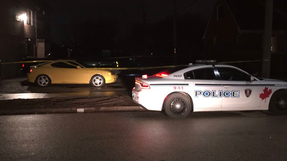 Windsor police are investigating a stabbing near California Ave and Girardot Ave on March 14, 2019. ( Alana Hadadean / CTV Windsor )