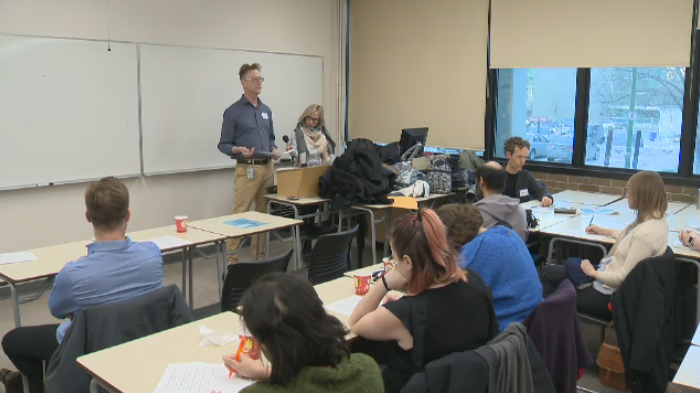 A group met at the University of Winnipeg Thursday to brainstorm alternatives to the new measures, which they said were implemented without community consultation.