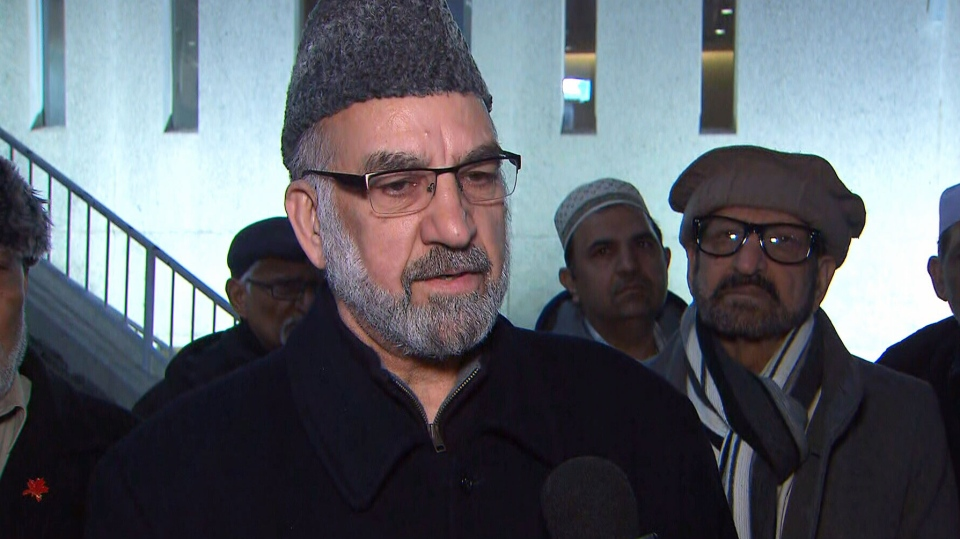 Muhammad Afzal Mirza, imam of the Bait Ul Islam Mosque, led Friday morning prayers there. (CP24)