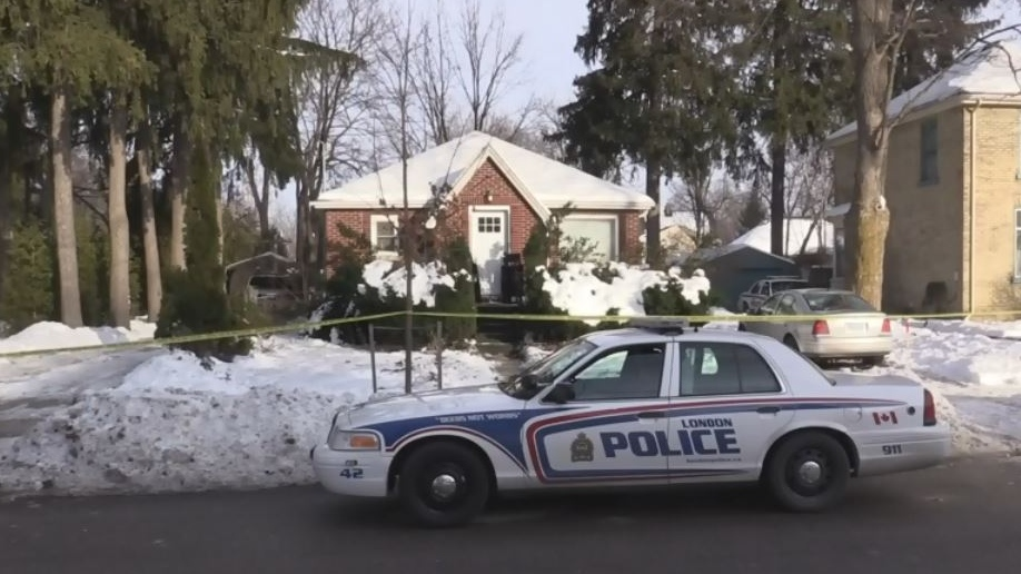 Police executed a search warrant at the home of Samuel Maloney, at 56 Duchess Avenue in London, Ont. on Dec. 23, 2016.