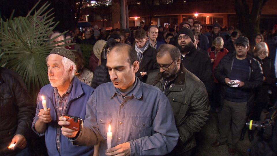 Worshippers gather at the Jamia Masjid Mosque hours after the terror attacks in New Zealand that targeted the Muslim community.