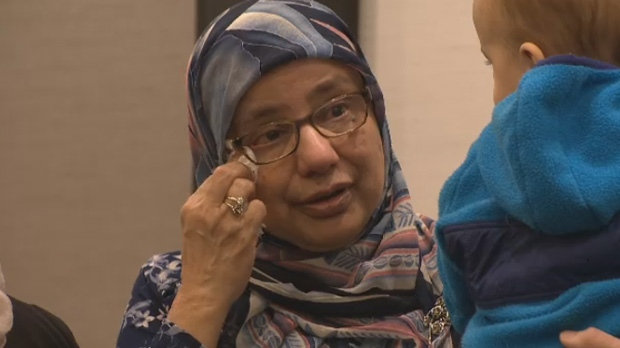 Shahina Siddiqui, executive director, Islamic Social Services Association of Manitoba , wipes away a tear while attending an anti-hate conference in Winnipeg on Friday, March 15, 2019.