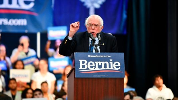 Vermont Sen. Bernie Sanders addresses a rally in North Charleston, S.C., on Thursday, March 14, 2019. (AP Photo/Meg Kinnard)