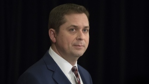 Federal Conservative Leader Andrew Scheer speaks during a press conference in Toronto on Thursday, March 7, 2019. THE CANADIAN PRESS/Chris Young