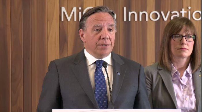 Quebec Premier Francois Legault discusses his meeting with SNC-Lavalin.