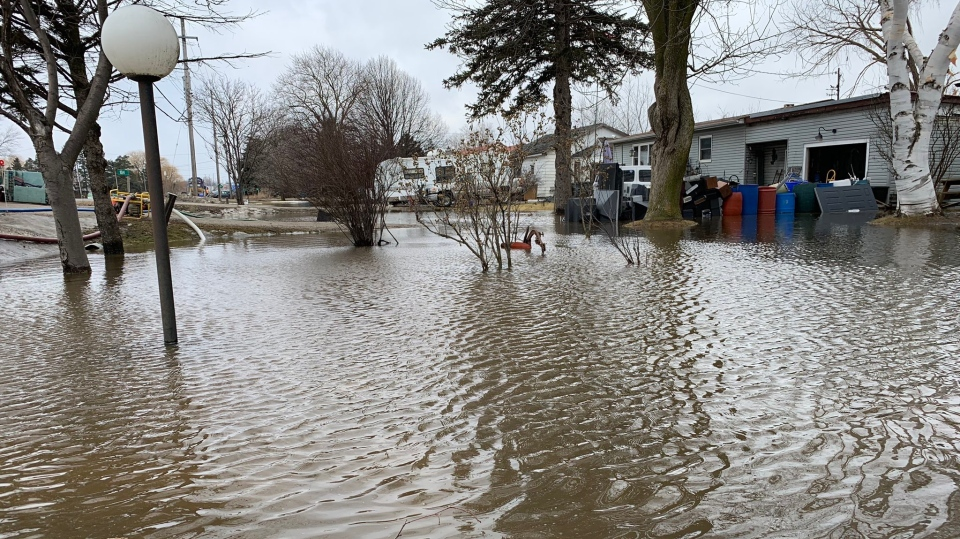 Localized flooding hits several areas across the region as seen on Fri., March 15, 2019 (CTV News/Craig Momney)