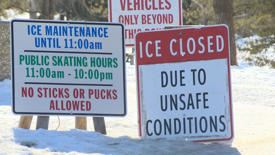 The Hawrelak Park Rink is now closed due to the warm weather.