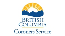 The BC Coroners Service logo is pictured.