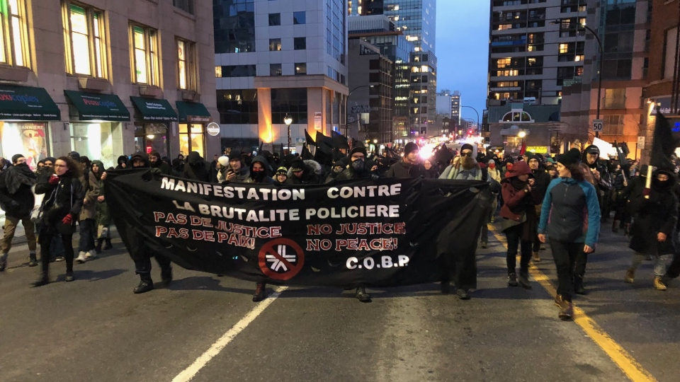Montreal police brutality protest 2019 (photo: Max Harrold / CTV Montreal)
