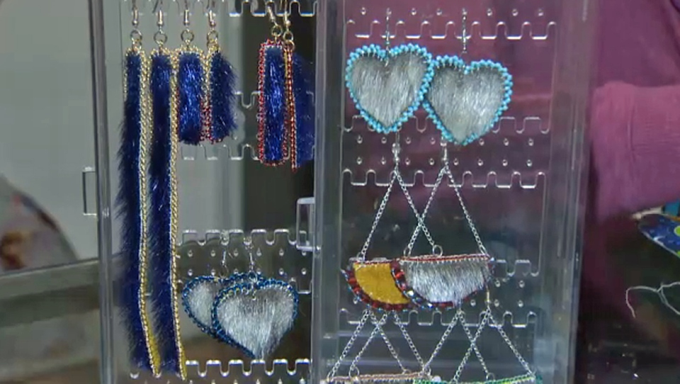 Seal fur jewelry created by Calgary Indigenous artist Autumn EagleSpeaker